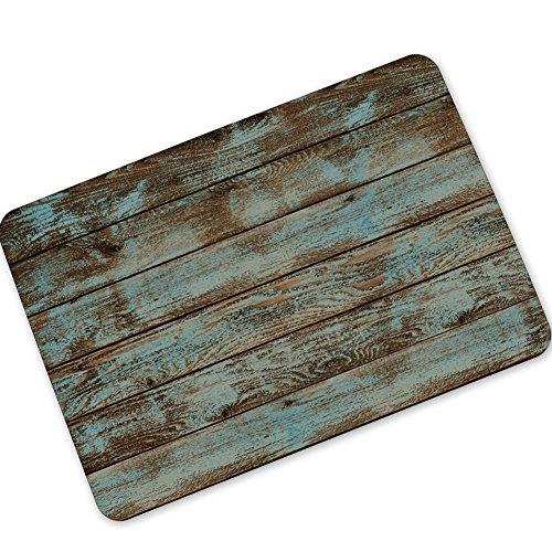 Fussmatte Holz-Optik für Haustür, Flur, Innen und Aussen Fussmatten rutschfest und waschbar Praktische Schmutzfangmatte Fußabtreter Fussabstreifer size 45x70 cm (Stil 1)