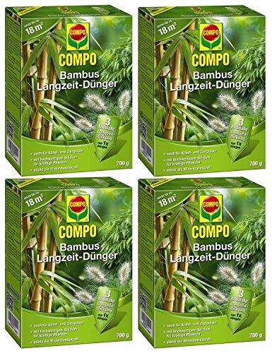Oleanderhof® Sparset: 4 x COMPO Bambus Langzeit Dünger, 700 g + gratis Oleanderhof Flyer