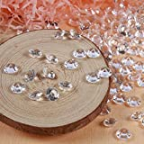 Demiawaking 200 Mariage Cristaux De Confettis De Table Style Acrylique Perles De Diamants 10 Mm Claire