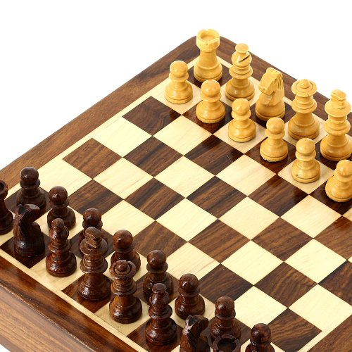 Travel Games Magnetic Chess Sets and Board Wooden Toys and Games 17.78 x 17.78 cm