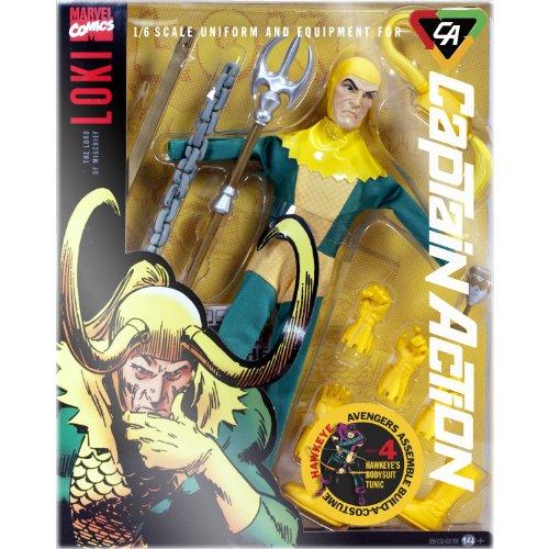 Loki Uniform und Ausrüstung Captain Action Maßstab 1/6Deluxe (Captain Action Kostüm Set)
