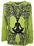 Guru-Shop Sure Langarmshirt, Kapuzenshirt Meditation Chakra Buddha, Herren, Lemon, Baumwolle, Size:XL, Bedrucktes Shirt Alternative Bekleidung