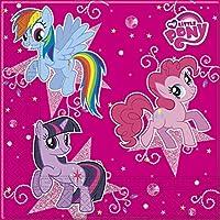 Unique Party 71954 - Sparkle My Little Pony Paper Napkins, Pack of 20