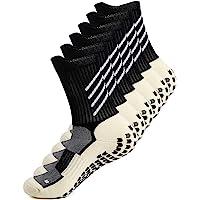 Anti-slip Sport Sock for Men Women, Anti Blister Cushion Wicking Breathable Non-slip Aheletic Socks for Football…