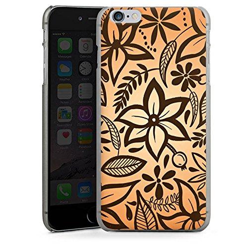 Apple iPhone X Silikon Hülle Case Schutzhülle Retro Blumen Muster Hard Case anthrazit-klar