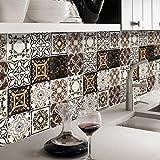 JY ART Adhésif décoratif - Autocollant carrelage| Stickers Carreau Ciment - Rénover Mural de Salle de Bain et Cuisine | Facile à appliquer et repositionable | Design Classique G530, 20cm*5m