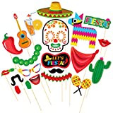 TINKSKY Photo Booth Props Fiesta Party Supplies Mexican Carnival Prop for Cinco De Mayo Fiesta Party Favors 20pcs