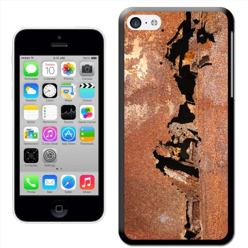 Fancy A Snuggle 'Metall Moments' Hard Case Clip On Back Cover für Apple iPhone 5 C Rusted Metal