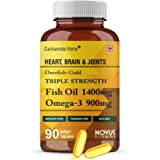 Carbamide Forte Triple Strength Omega 3 Fish Oil 1400mg Supplement – 90 Capsules