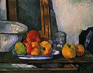 Spiffing Prints Paul Cezanne - Still Life Dish of Fruit - Medium - Matte Print Vintage Wall Art Poster Picture Giclee Artwork Modern Contemporary & Fine Art Print