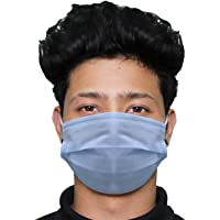HACER HC0001 3 Ply Non Surgical Disposable Face Mask 25 GSM Unisex Nose Mouth Protection Cover with Non-woven Fabric for Women & Men (25 Pcs)