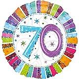 Folienballon 70 GLITZER XXL 45cm, Luftballon zum Geburtstag + PORTOFREI mgl + Geschenkkarte + Helium & Ballongas geeignet. High Quality Premium Ballons vom Luftballonprofi & deutschen Heliumballon Experten. Luftballondeko zum Geburtstag oder Jubiläum. Lustiger Geburtstagsgeschenk Ballon