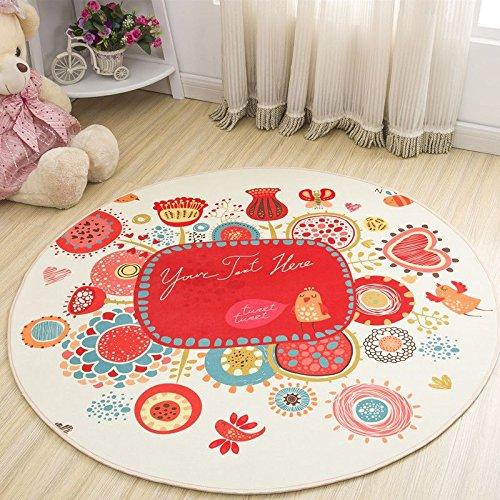 WXDD Kinder's Schlafzimmer Bett Kissen, Garderobe, Schminktisch, Blumenampel, Computer Stuhl, Fußmatte, Wohnzimmer Tisch, runder Teppich, Durchmesser 60 cm [Kreis], Kastanie Kastanie Kugel -