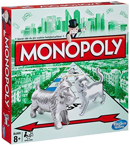 Hasbro Monopoly 00009380 – Monopoly Classic, Brettspiel (schwedisch)
