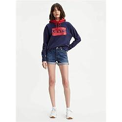 Levi s 501 Short Long Pantalones Cortos Azul Blue Clue 0006 W25 Talla del Fabricante 25 para Mujer