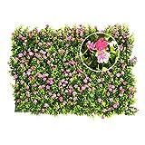 Y & D Künstliche Blumen Rasen Hecke Faux Grün Privatsphäre Bildschirme Grünen Hintergrund Kunststoff Gartenpflanzen Zaun Matte Panel Spalier Wand Outdoor Home Party Hochzeitsdekoration
