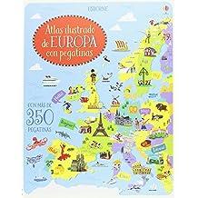 Atlas ilustrado de Europa con pegatinas