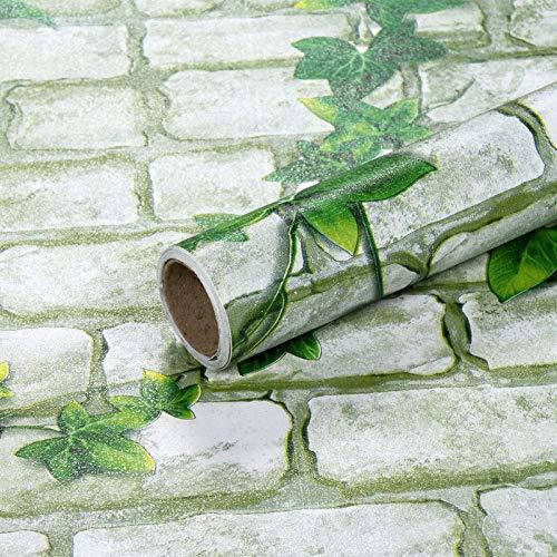 Brick selbstklebende Tapete wasserdicht und feuchtigkeitsbeständig Tapete Wandaufkleber Rebe Ziegelmuster 45cmx2m (Pink Panther Band 2)