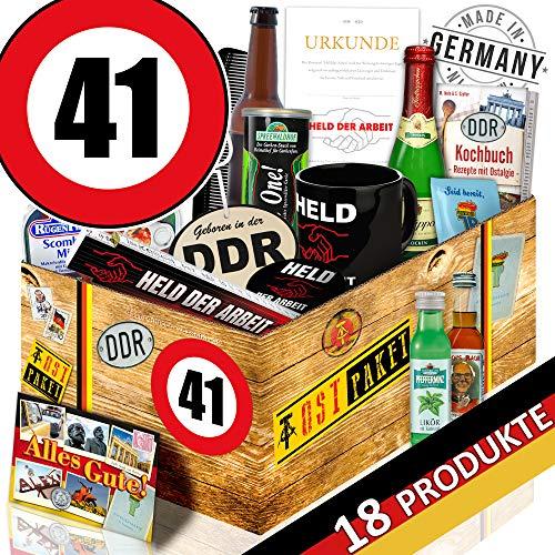 Männerset DDR  Geschenkset Männer   Zahl 41   Geschenk Box Männer
