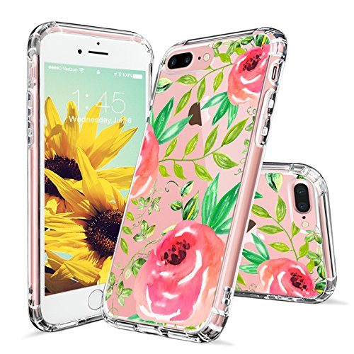 Tropical Case for iPhone 7 Plus iPhone 8 Plus Roses Leaf