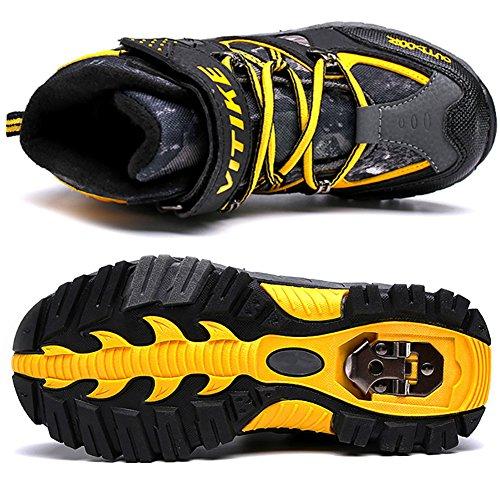 VITIKE Chaussures de randonnée Jungle Boys Walking Trekking Imperméable léger Outdoor Sporty Shoes Bottes d'escalade Jaune