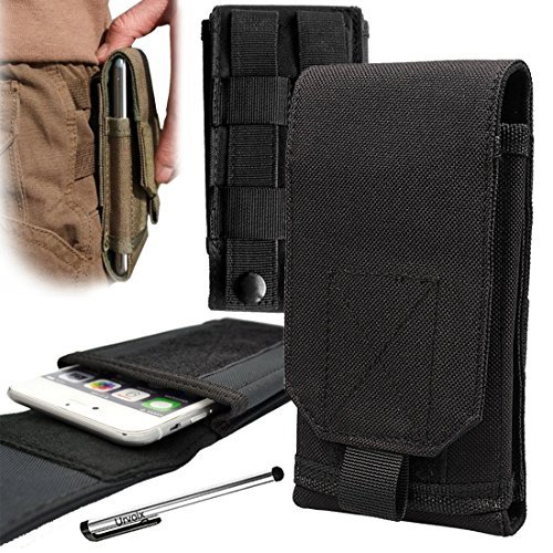 urvoix Schutzhülle für Samsung Galaxy S7Edge/S6Edge +/Note 5/Note Edge/Note 4/Note 3/Note 2, Molle-Multifunktions-Tasche für draußen (G-iii-leder-rock)