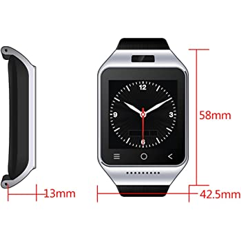 ZGPAX S8 Android 4.4 Dual Core Gear Smart Watch Phone Wrist Wrap Watch Phone,1.54inch LG Multi-point Touch Screen,3G WCDMA,Bluetooth 4.0,Bulit-in GPS,5M Camera (Sliver)