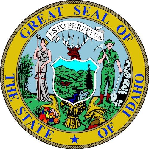 Idaho State USA Seal Hochwertigen Auto-Autoaufkleber 12 x 12 cm - Idaho State Seal