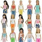 E-TING 5 Définit la main Blouse Outfit Casual Wear Vêtements Pantalons pour Barbie