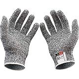 ZqiroLt 2 Stücke HPPE Hochfestes Polyethylen Anti-Cut Level 5 Schutz Arbeitshandschuhe S