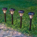 Lights4fun 4er Set LED Solar Wegbeleuchtung Barock