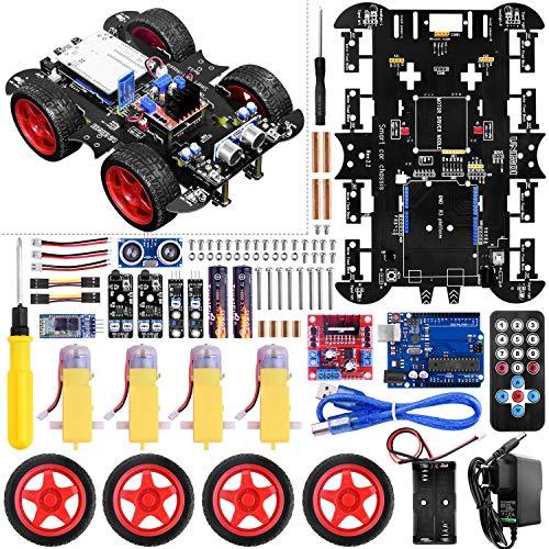 UNIROI intelligenter Roboter, intelligent zusammengebautes Auto mit arduinoIDE, kein Schweißen, einfache Montage UA060