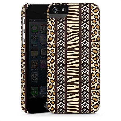 Apple iPhone 5 Housse étui coque protection Imprimé animal Afrique Zèbre CasStandup blanc