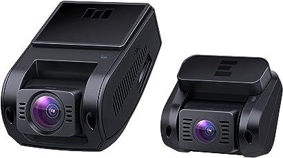 AUKEY Dashcam Dual 1080P Front und Rück Autokamera mit 170° Weitwinkel, Superkondensator, WDR Nachtsicht Dash Cam mit G-Sensor Bewegungserkennung, Loop-Aufnahme und Dual-Port Kfz-Ladegerä