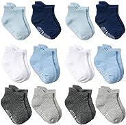 Baby Socks Toptim Toddler Non-skid Ankle Socks for Infant Boy Girl and Kids