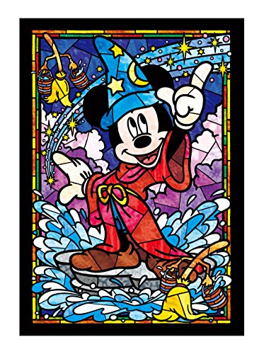 Stained Art 266 piece Disney Mickey Mouse Stained Glass DSG-266-747 tightly (japan import) (Stained Puzzle Glass Disney)