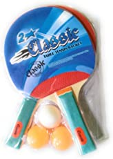 See Inside || Classic Table Tennis Racket Set of 2 with 3 Balls