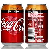 Coca-Cola Zero Sugar Peach (Pfirsich) ohne Zucker 24 x 330ml Null Kalorien, neuer Geschmack, sehr erfrischend, perfekt für den Urlaub & heißes Wetter
