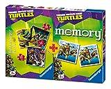 Ravensburger 07287 3 - Ninja Turtles Multipack, 3 Puzzle + 1 Memory