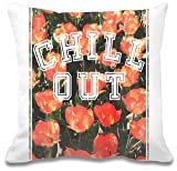 Chill Out Floral Texture Kissen