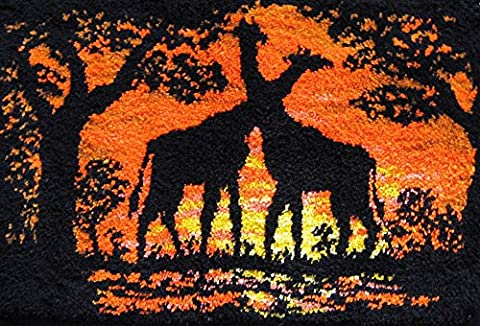 M C G Textiles 39.5 x 26-inch Giraffes at Sunset Graph-n-Latch Rug Kit