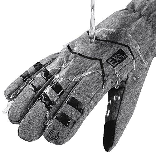 MCTi Winter Warm Arbeits Handschuhe Fahrrad Radfahren Touchscreen Thinsulate mit Wasserdicht TPU Herren Damen - 2