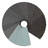 Profi Schleifpapier Set [ 52 Stück ], Vegena 120-3000 Körnung Nass und Trocken Schleifpapier Sortiment für Holzmöbel