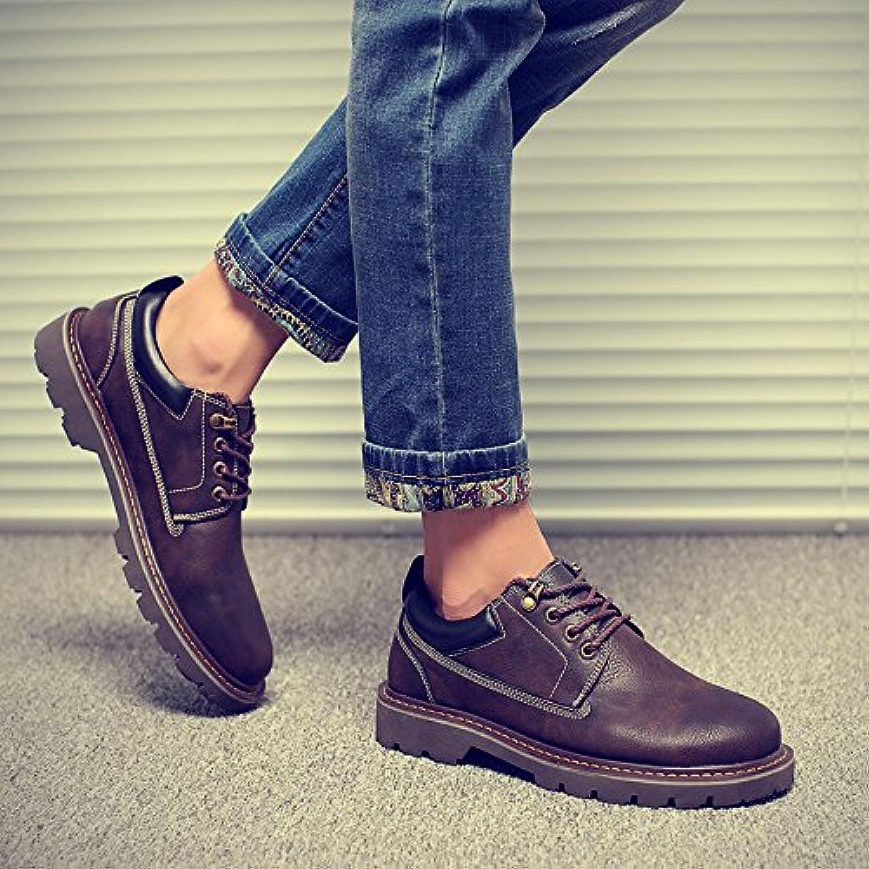 HL-PYL-Martin botas, zapatos, zapatos de cuero y zapatos casual hombres Inglés,38,Brown