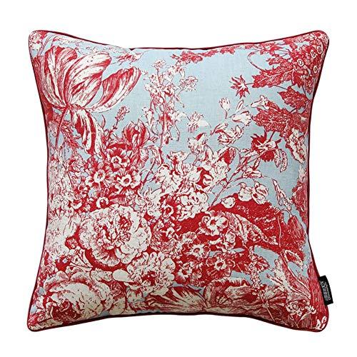 Jffffwi stile classico [fiori di piante] cuscino in vita di cotone/cuscino/federe-a 50x30cm (20x12inch) versione b