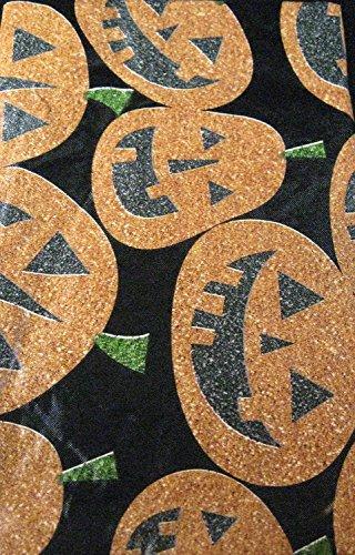 (Haunted Halloween Flanell Rückseite Vinyl Tischdecke von elrene-jack-o-lanterns verschiedene Größen bis 304,8cm. längliche und rund, Vinyl, mehrfarbig, 52