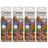 48 x Red Cedar Wood Balls Natural Moth Repeller Deterrent Wardrobe Drawers.