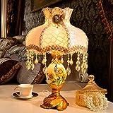 TIAMO Home Store europäische pastoralen kreative schlafzimmer lampe bett leuchte lampe eingerichteten zimmer wohnzimmer Tischleuchte (stil : A)