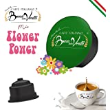 BOCCA DELLA VERITA Café italien - Boîte de 50 capsules - Mélange d'arômes FLOWER POWER, compatible avec la machine à café Dol