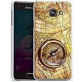 Samsung Galaxy A3 (2016) Housse Étui Protection Coque Boussole Carte du monde Carte
